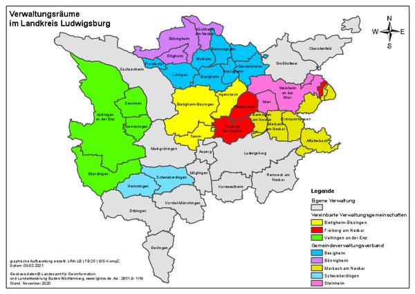 Verwaltungsgemeinschaften im LK LB