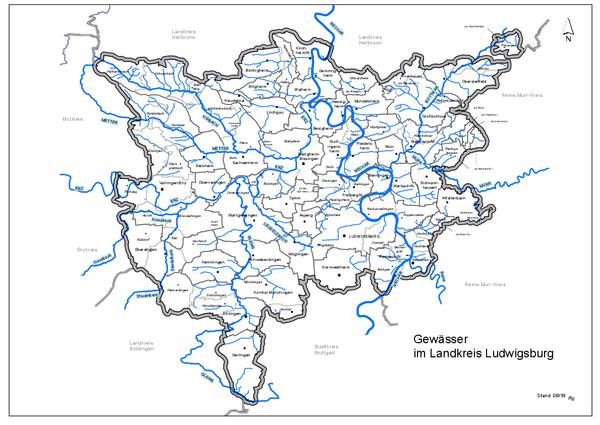 Übersichtskarte Gewässer