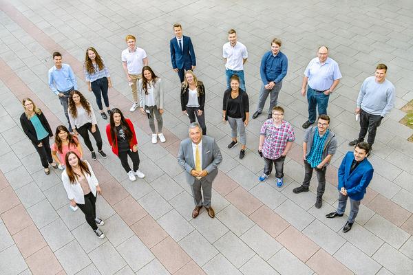 Die neuen Auszubildenden des Landratsamtes Ludwigsburg