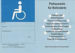 Parkausweis für Behinderte blau