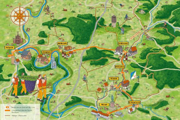 Karte WeinKulTourer