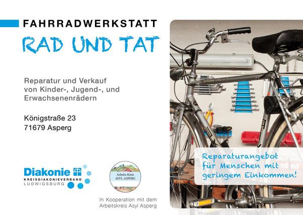 "Infoflyer ""Rad und Tat"" @ Kreisdiakonie Ludwigsburg"