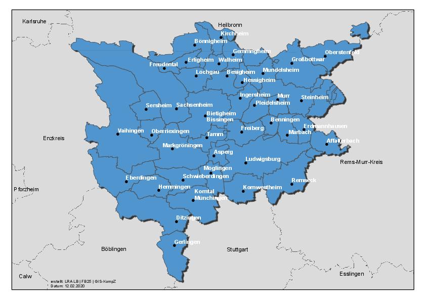 Stadte Gemeinden Landratsamt Ludwigsburg